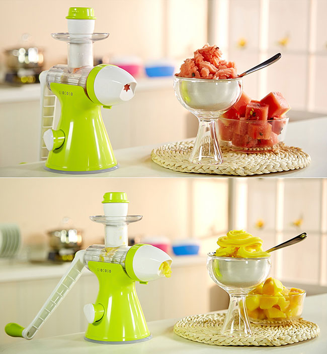 Manual 2 in 1 Fruit vegetables Juice Juicer Ice Cream Maker Machine Extractor eBay