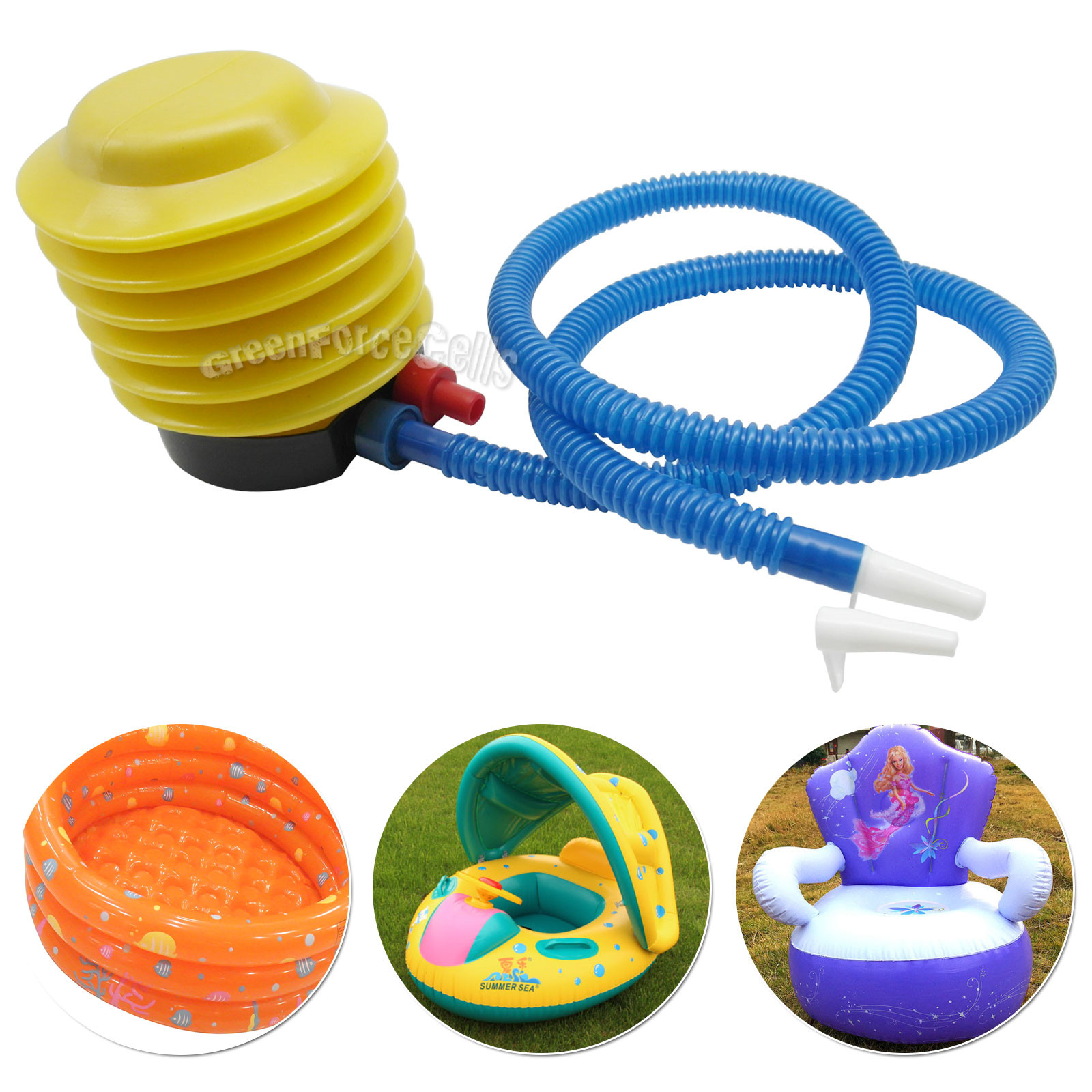 Portable foot inflator air pump inflatable for swimming for Housse ballon yoga