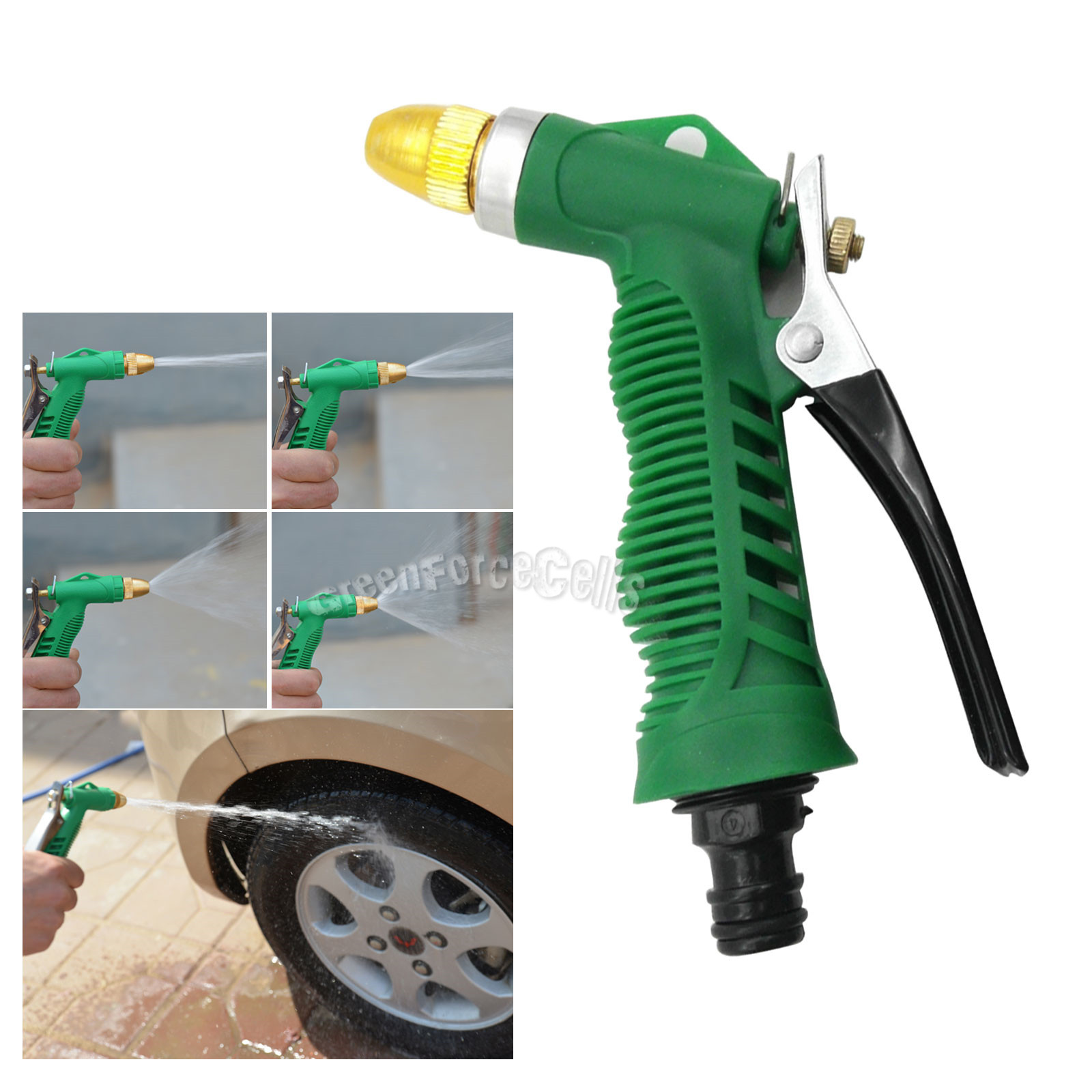 Water hose nozzle trigger wash spray gun for washing